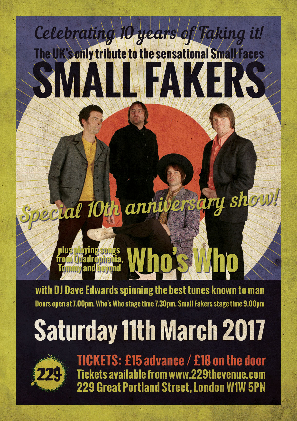 Small faces tribute Small Fakers at Dingwalls Camden