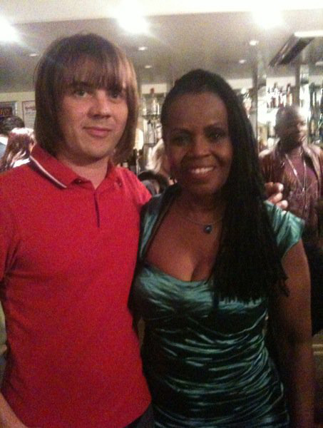 Matt backstage with PP Arnold