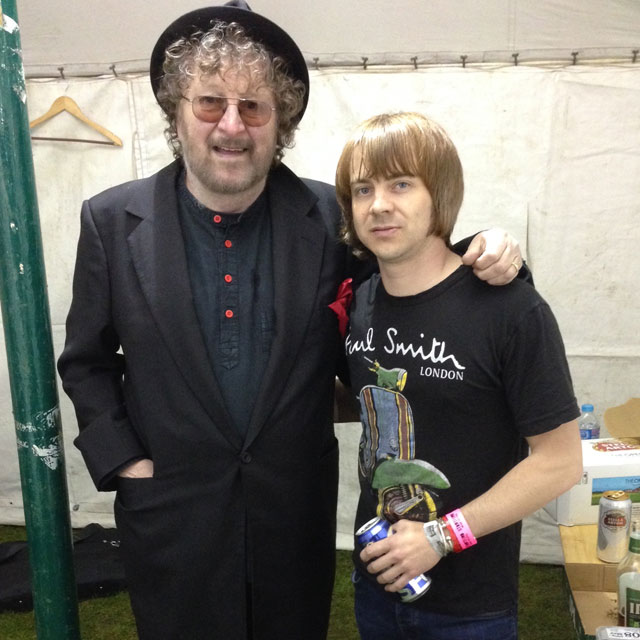 Chas Hodges with Matt